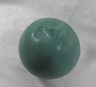 "Stoneware ""moon face"" by Judy Jackson $35"